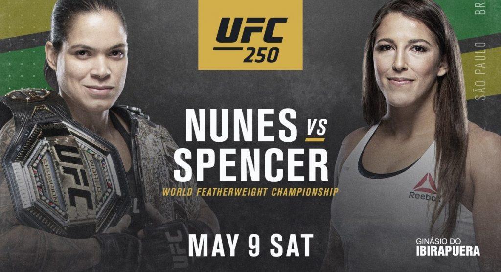 Amanda Nunes x Felicia Spencer no UFC 250