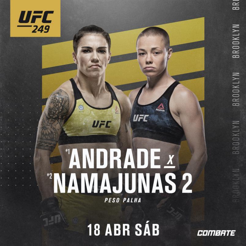 Apostar no UFC: Jessica Andrade x Rose Namajunas no Barclays Center
