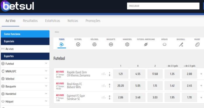 Betsul - site para apostar em futebol