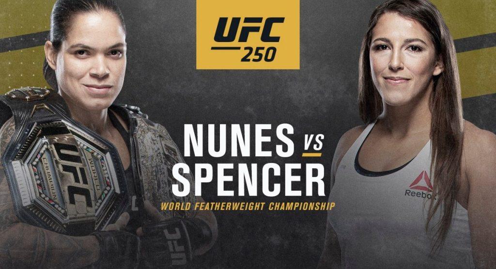 Apostar no UFC 250: Amanda Nunes x Felicia Spencer