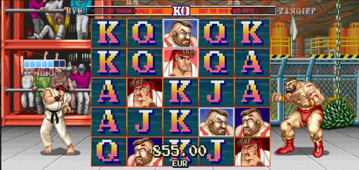 Jogo de caça niquel Street Fighter 2 da NetEnt