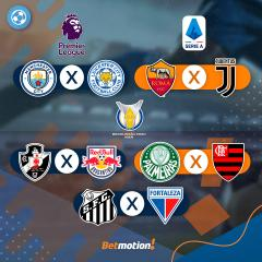 Agenda Futebol na Betmotion - Brasileirao, Copa do Brasil, Libertadores