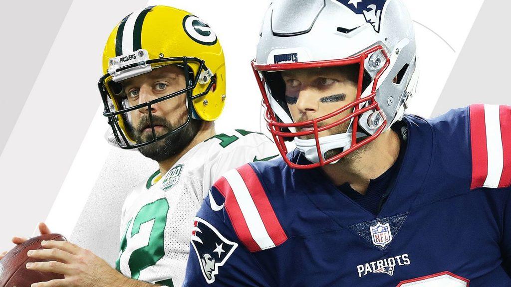 Assistir Jogos da NFL e Apostar Online - Tom Brady x Aaron Rodgers em Tampa Bay