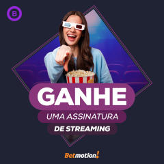 Betmotion - sorteio de assinatura de streaming