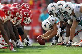 Futebol Americano - NFL - Kansas City Chiefs X Miami Dolphins na semana 14