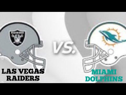 Futebol Americano - NFL: Las Vegas Raiders X Miami Dolphins