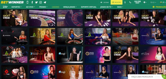 Betwinner Brasil - jogos de cassino ao vivo