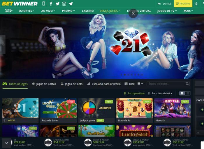 Betwinner Brasil - área de jogos online