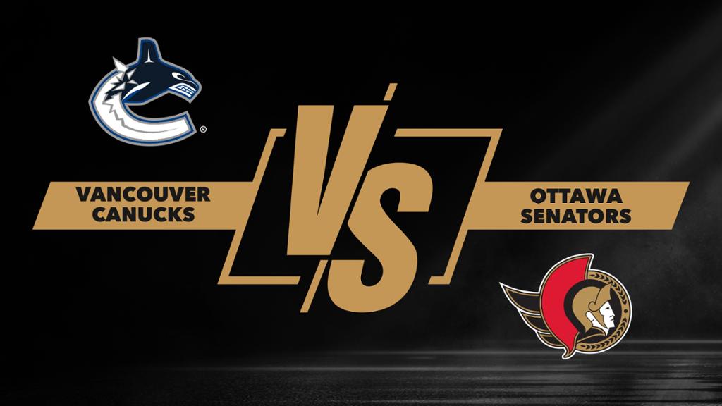 Hoquei no Gelo - NHL: Vancouver Canucks X Ottawa Senators