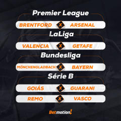 Agenda da Semana - Futebol na Betmotion