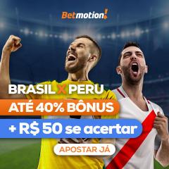 Betmotion - Agenda do Futebol - Brasil X Peru