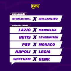 Agenda do Futebol da Semana - Betmotion